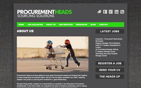 Screenshot of About Page procurementheads.com - About Procurement Heads | Procurement Heads - captured Sept. 30, 2014