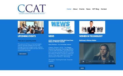 Screenshot of Home Page ccat.org - CCAT - captured Oct. 1, 2014