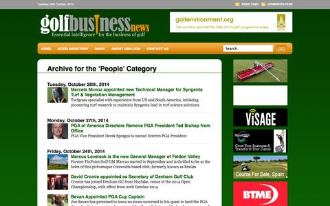 Screenshot of Team Page golfbusinessnews.com - People «  Golf Business News - captured Oct. 28, 2014