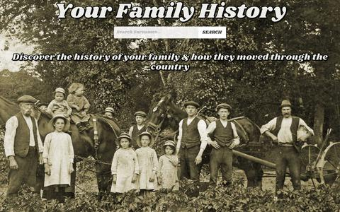 Screenshot of Home Page your-family-history.com - Your Family History - captured Feb. 24, 2018