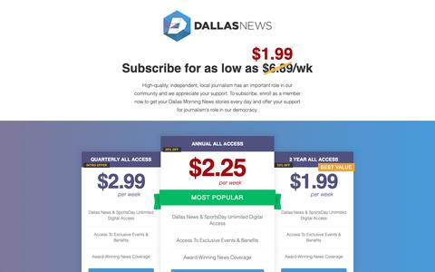 Screenshot of Signup Page dallasnews.com - Dallas News: Breaking News for DFW, Texas, World - captured Oct. 18, 2018