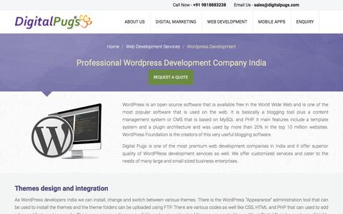 Screenshot of Contact Page digitalpugs.com - Affordable Wordpress Company, Wordpress Services in India - captured Nov. 10, 2016