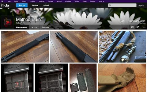 Screenshot of Flickr Page flickr.com - Flickr: Method Burn's Photostream - captured Oct. 27, 2014