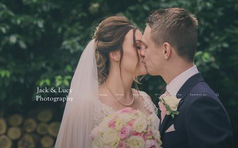 Screenshot of Home Page jackandlucy.co.uk - Jack & Lucy Photography – Sussex Wedding Photographers - captured Sept. 20, 2018