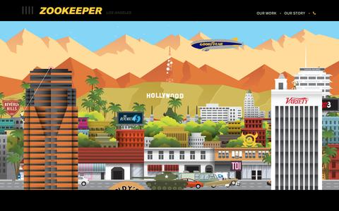 Screenshot of Contact Page zookeeper.com - Contact Us • LA Motion Graphics + Animation + Logo Design - captured June 18, 2017