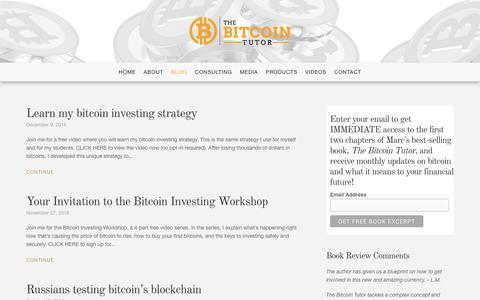 Screenshot of Blog thebitcointutor.com - Blog - The Bitcoin Tutor - captured Dec. 12, 2016