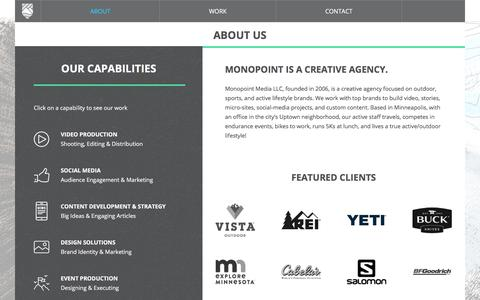 Screenshot of About Page monopointmedia.com - About – Monopoint Media - captured June 4, 2018