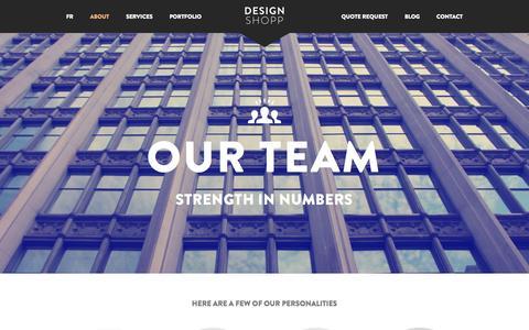 Screenshot of Team Page designshopp.com - Team - Design Shopp - captured Sept. 30, 2014