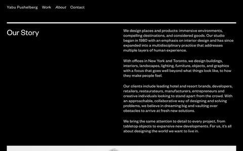 Screenshot of About Page yabupushelberg.com - Yabu Pushelberg - About - captured Dec. 8, 2018