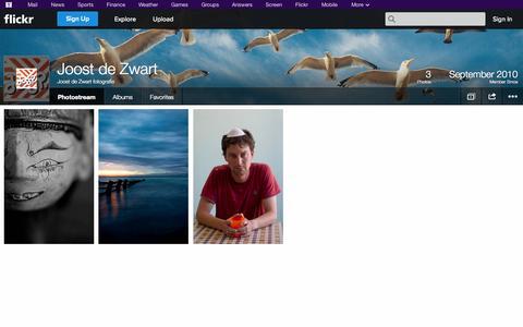 Screenshot of Flickr Page flickr.com - Flickr: Joost de Zwart fotografie's Photostream - captured Oct. 24, 2014