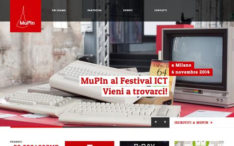 Screenshot of Privacy Page mupin.it - MuPIn | Museo Piemontese dell'Informatica - captured Oct. 26, 2014