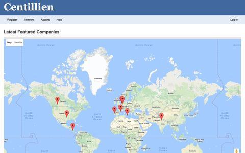 Screenshot of Maps & Directions Page centillien.com - Latest Featured Companies : Centillien - captured Oct. 31, 2016