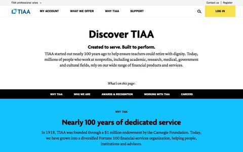 Discover TIAA   TIAA