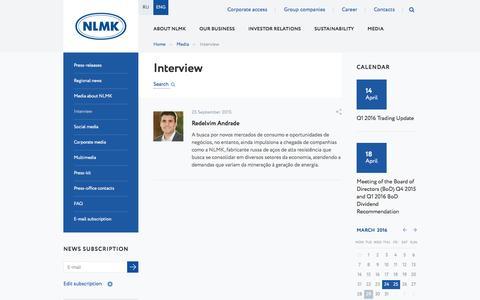 Screenshot of nlmk.com - Interview - captured March 29, 2016