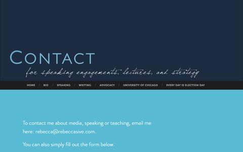 Screenshot of Contact Page rebeccasive.com - Rebecca Sive - captured Sept. 24, 2015