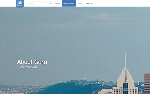 Screenshot of About Page guru.com - About - Guru - captured Sept. 19, 2014