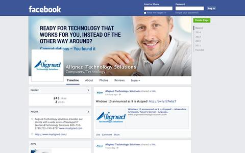 Screenshot of Facebook Page facebook.com - Aligned Technology Solutions - Alexandria, VA - Computers/Technology | Facebook - captured Oct. 23, 2014