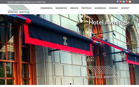 Screenshot of Home Page atlantic-awning.com - Commercial and Residential Awnings | Boston MA | Atlantic Awning - captured July 26, 2016