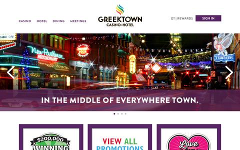 Screenshot of Home Page greektowncasino.com - Greektown Casino | Detroit's Nightlife & Entertainment Capital - captured Feb. 2, 2016