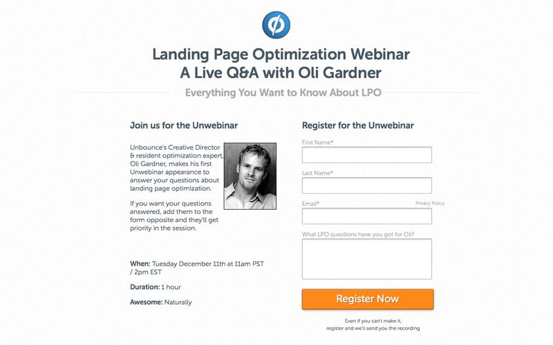 Landing Page Optimization: Live Q&A with Oli Gardner