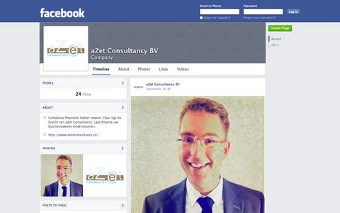 Screenshot of Facebook Page facebook.com - aZet Consultancy BV | Facebook - captured Nov. 2, 2014