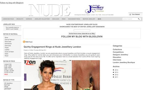 Screenshot of Blog nudejewellery.co.uk - Nude Contemporary Jewellery Blog, What's happening in the world of contemporary jewellery London. - captured Sept. 30, 2014