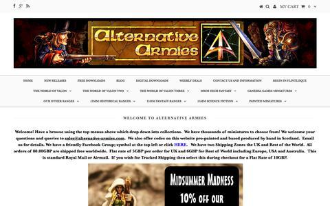 Screenshot of Home Page alternative-armies.com - Alternative Armies Online - captured June 26, 2018
