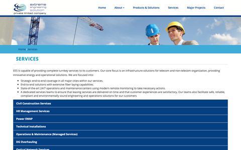 Screenshot of Services Page eespak.com - EESPK | Services - captured Sept. 30, 2018