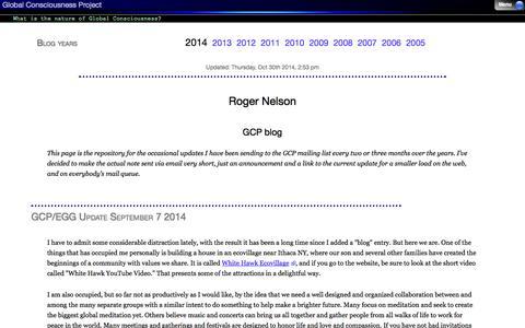 Screenshot of Blog global-mind.org - Global Consciousness Project Blog - captured Oct. 30, 2014