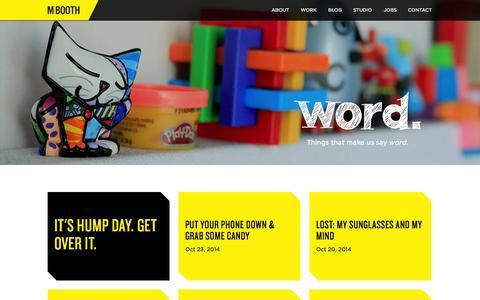 Screenshot of Blog mbooth.com - M Booth   Blog - captured Oct. 29, 2014