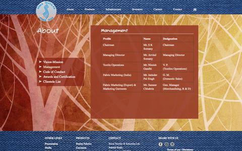 Screenshot of Team Page somatextiles.com - Management - captured Oct. 7, 2014