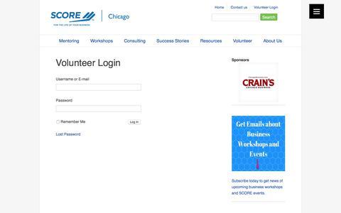 Screenshot of Login Page scorechicago.org - SCORE Chicago - Login - captured Aug. 15, 2017