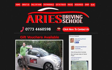 Screenshot of Home Page driving-lessons-inverness.co.uk - Driving lessons Inverness - captured June 19, 2015