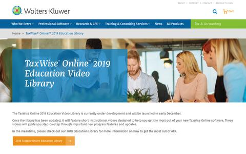 Screenshot of Case Studies Page wolterskluwer.com - TaxWise® Online™ 2019 Education Library | Wolters Kluwer - captured Nov. 29, 2019