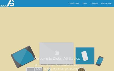 Screenshot of Home Page digitalag.net - Digital AG Studios | Your WordPress Hosting Master - captured Oct. 5, 2014