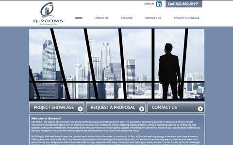 Screenshot of Home Page q-rooms.com - Q-rooms   Convention Housing   Convention Housing Services - captured Oct. 1, 2014