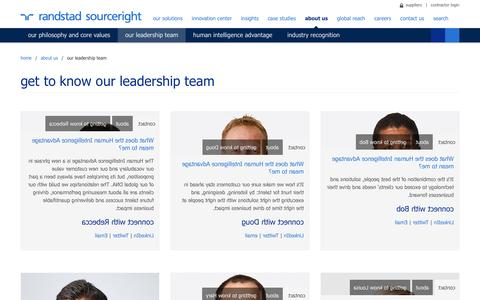 Our Leadership Team | Randstad Sourceright