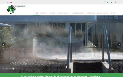 Screenshot of Home Page energieverdieners.nl - R&R Systems B.V. De specialist in duurzame energiesystemen - captured Dec. 20, 2018