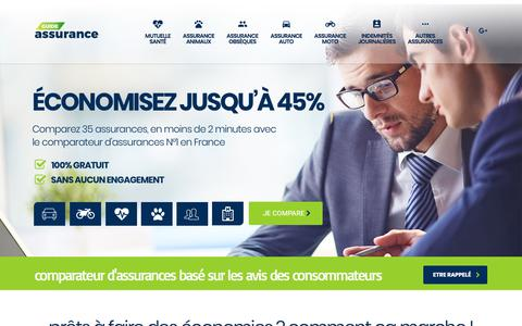 Screenshot of Home Page guide-assurance.com - Comparateur d'assurance maladie : devis Express pas cher TOP tarif 2017 - captured Oct. 31, 2017