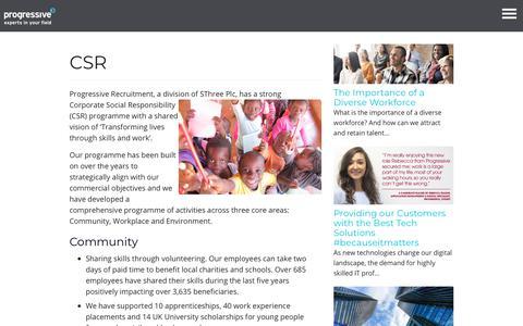 CSR - Progressive Recruitment