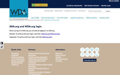 Screenshot of Case Studies Page wda.org - ADA.org and WDA.org login - Wisconsin Dental Association - Oral & Dentistry Advocates | WDA - captured Oct. 21, 2017