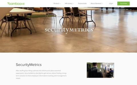 SecurityMetrics Uses HR Software from BambooHR