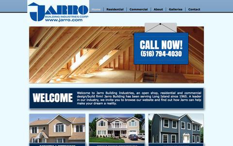 Screenshot of Home Page jarro.com - Jarro Building Industries | Long Island General Contractors - captured Oct. 6, 2014