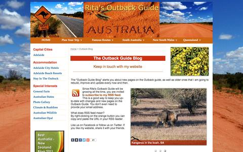 Screenshot of Press Page ritas-outback-guide.com - The Outback Guide Blog - Explore the Australian Outback - captured Jan. 14, 2016