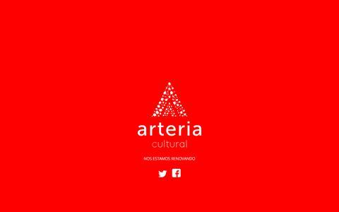 Screenshot of Home Page arteriacultural.org - Arteria - captured July 30, 2018