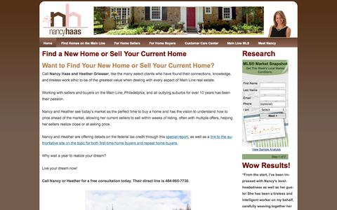 Screenshot of Home Page Menu Page nancyhaas.com - Nancy Haas and Heather Griesser - captured Oct. 6, 2014