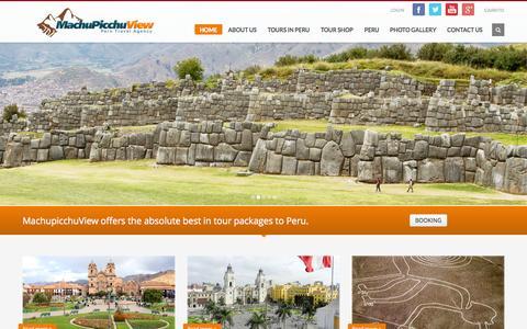 Screenshot of Home Page machupicchuview.com - Machu Picchu View Travel Agency - captured Sept. 24, 2014
