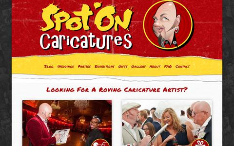 Screenshot of Home Page caricatures-uk.com - SPOT ON CARICATURES - Look no further - Likeness guaranteed! - captured Oct. 18, 2018