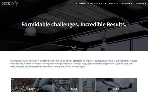 Screenshot of Case Studies Page personifysearch.com - Case Studies – Personify - captured April 14, 2018