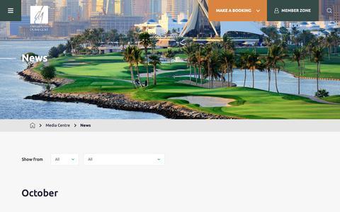 Screenshot of Press Page dubaigolf.com - News | Dubai Golf - captured Nov. 6, 2018